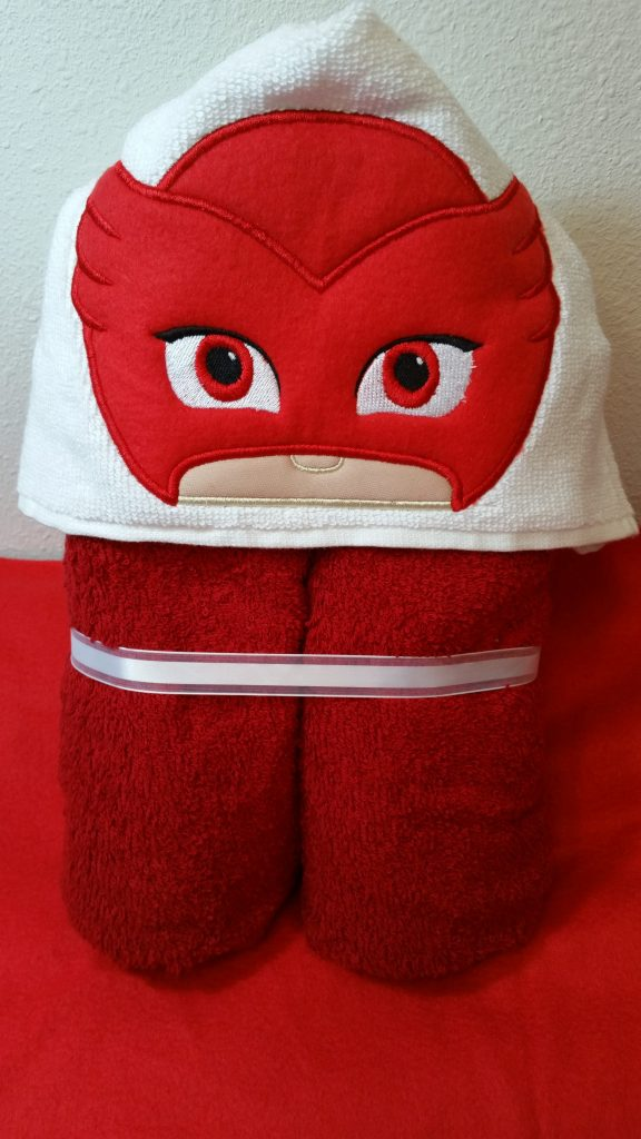 Owlette Hooded Towel, Owlette Bath Towel, Owlette Beach